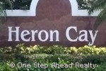 sign for Heron Cay of Pembroke Falls